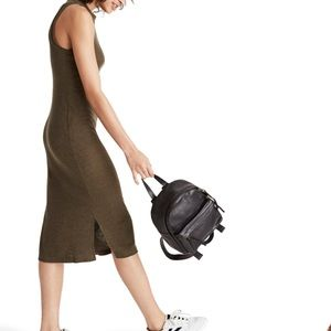 NWOT Madewell Mock Neck Midi Dress